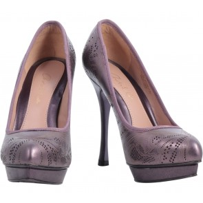 Charles and Keith Purple Heels