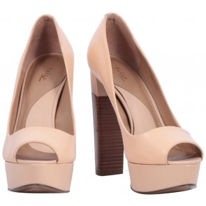 Pedro Cream Open Toe Heels