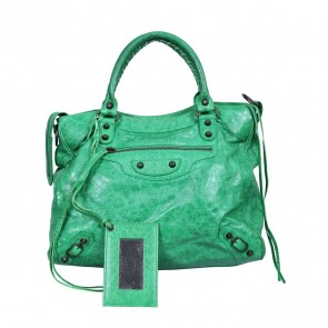 Balenciaga Green Tote Bag