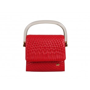 Bally Red Small Leather Sling Bag
