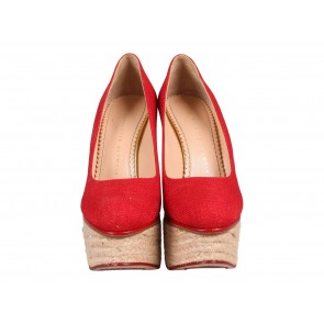 Charlotte Olympia Red Wedges