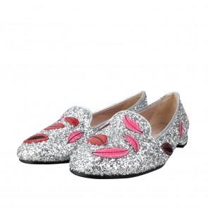 Chiara Ferragni Silver Flats