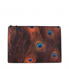 Givenchy Multi Colour Iconic Prints Medium Faux Leather  Clutch