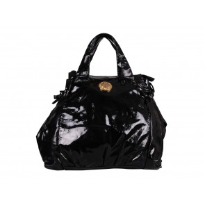 Gucci Black Hysteria Patent Leather Shoulder Bag