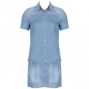 Gucci Blue Midi Dress