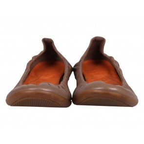 Hermes Brown Lady Carina Ballet Flats