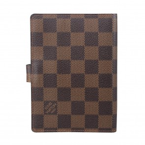 Louis Vuitton Brown Small Ring Agenda Cover Wallet