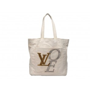 Louis Vuitton Off White Love Canvas Tote Bag