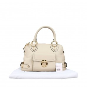 Marc By Marc Jacobs Beige Aline Leather Tote Bag
