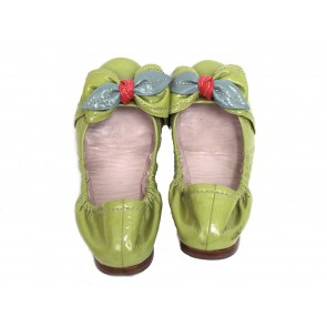 Miu Miu Patent Leather Flats with Bow