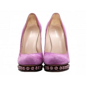 Peter Pilotto X Nicholas Kirkwood Purple Heels