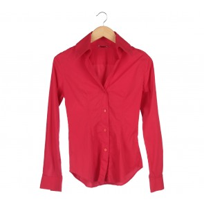 Sisley Red Taglia Stretch Shirt