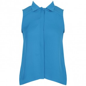 TheoryX Blue Sleeveless