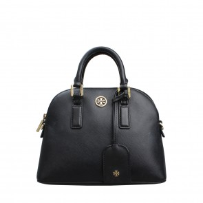 Tory Burch Black Robinson Mini Dome Tote Bag