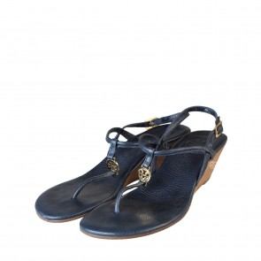 Tory Burch Dark Blue Emmy Demi Wedges