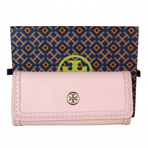 Tory Burch Pink Robinson Spectator Envelope Wallet