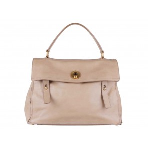 Yves Saint Laurent Beige Muse Two Large Tote Bag