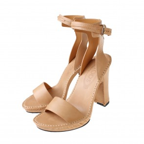 Tod´s Brown Chunky-Heel Calf-Leather Sandals