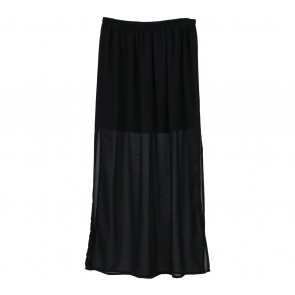 Forever 21 Black Sheer Insert Skirt