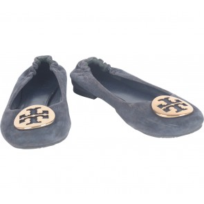 Tory Burch Dark Blue Flats