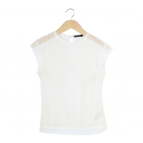Karen Millen Off White See Thrue Sleeveless
