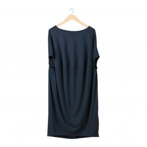 COS Dark Blue Midi Dress