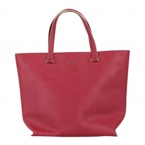 DKNY Red Leather Tote Bag