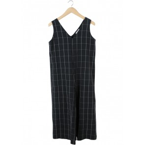Eloise Dark Grey Plaid Jumpsuit