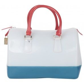 Furla Multi Colour Tricolor Candy Jelly Handbag