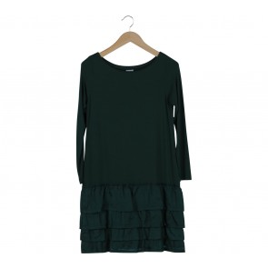 Hoss Green Ruffles Mini Dress