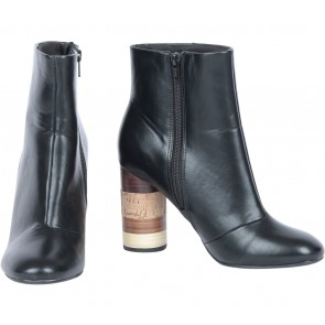 H&M Black Heels Boots