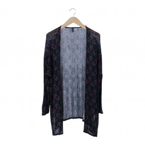 Divided Multi Colour Arrow Pattern Cardigan