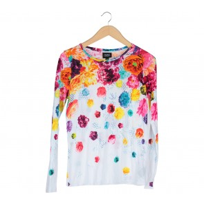 Prabal Gurung White And Multi Colour T-Shirt