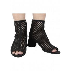 Zara Black Net Boots