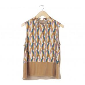 Zara Multi Colour Patterned Sleeveless