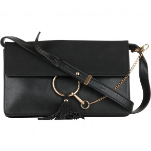 Forever New Black Tassels Clutch