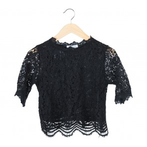 Tinkerlust Black Lace Blouse