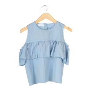 Tinkerlust Blue Off Shoulder Blouse