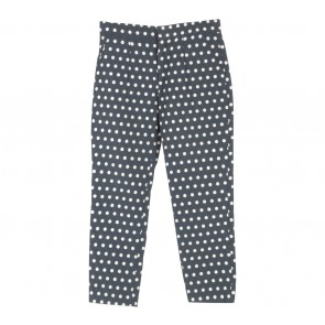 Petite Cupcake Dark Blue And Off White Polka Dot Pants