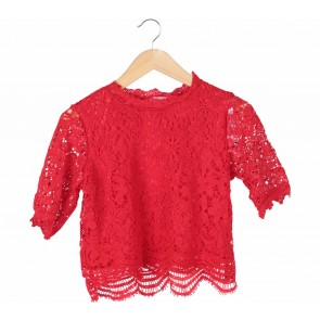 Tinkerlust Red Lace Blouse