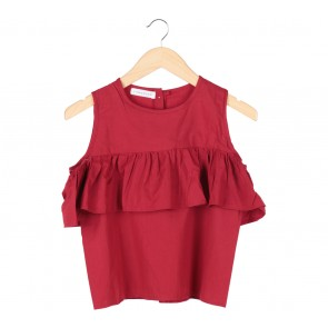 Tinkerlust Red Off Shoulder Blouse