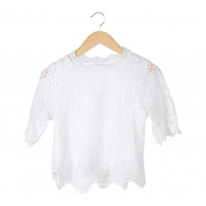 Tinkerlust White Lace Blouse