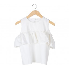 Tinkerlust White Off Shoulder Blouse