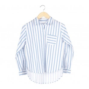Tinkerlust White With Blue Stripes Shirt