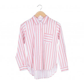 Tinkerlust White With Pink Stripes Shirt