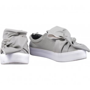 Shoe Corner Grey Slip On Sneakers