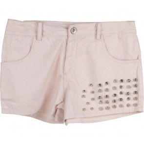Cream Shorts Pants