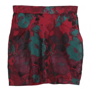 MDS Red Floral Skirt