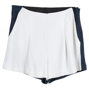 White And Dark Blue Shorts Pants