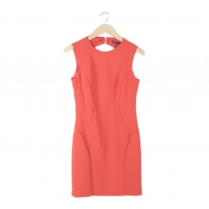 Zara Orange Back Cut Out Mini Dress